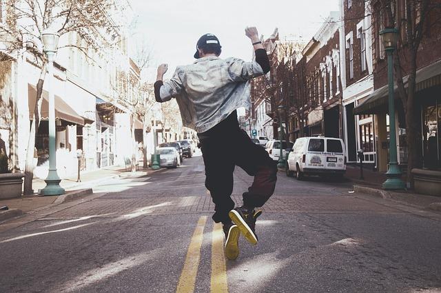 pouliční hip hop tanečník