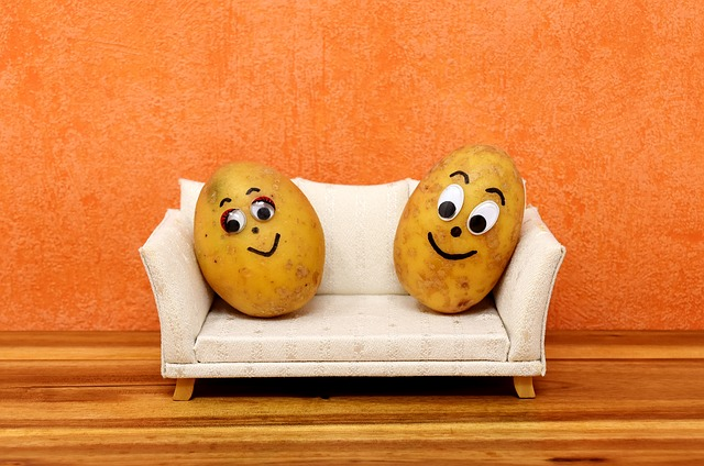 brambory na gauči